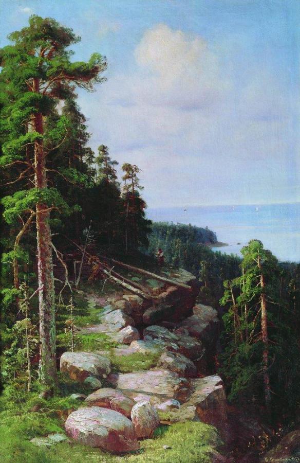 Над набережной. 1887