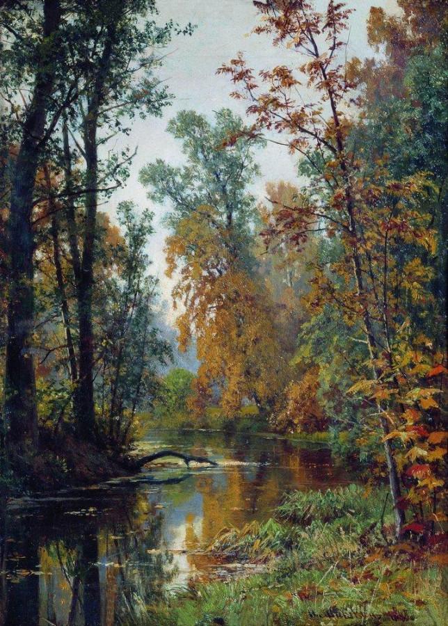 Осенний пейзаж. Парк в Павловске. 1888