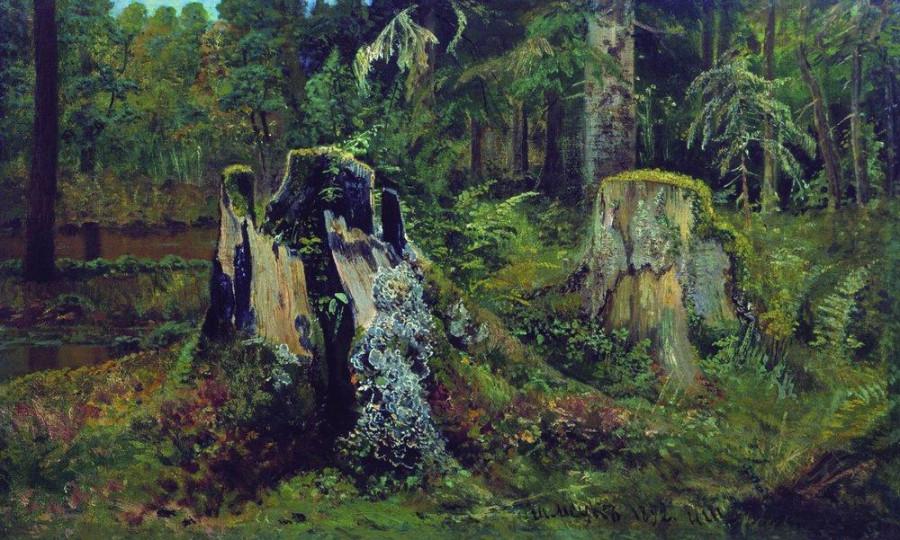 Пейзаж с пнем. 1892