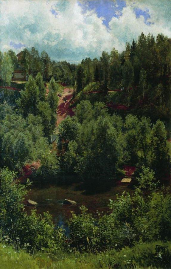 После дождя. Этюд леса. 1881