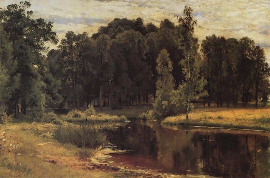 Пруд в старом парке. 1897
