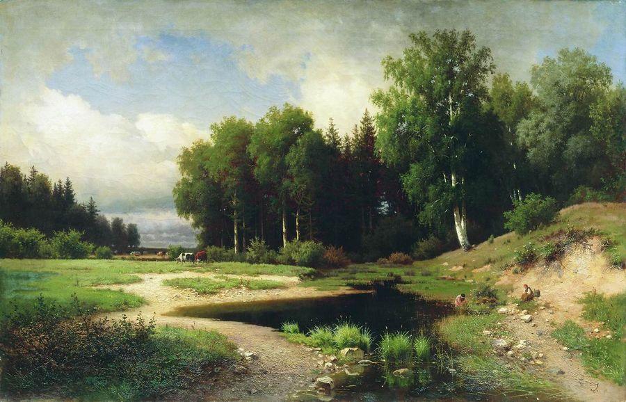 Вид из окрестностей села Поречье. 1869