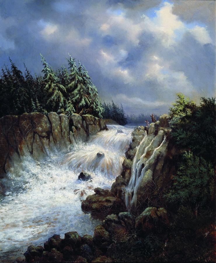 Водопад. 1850