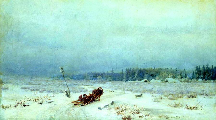 Зимняя дорога. 1866