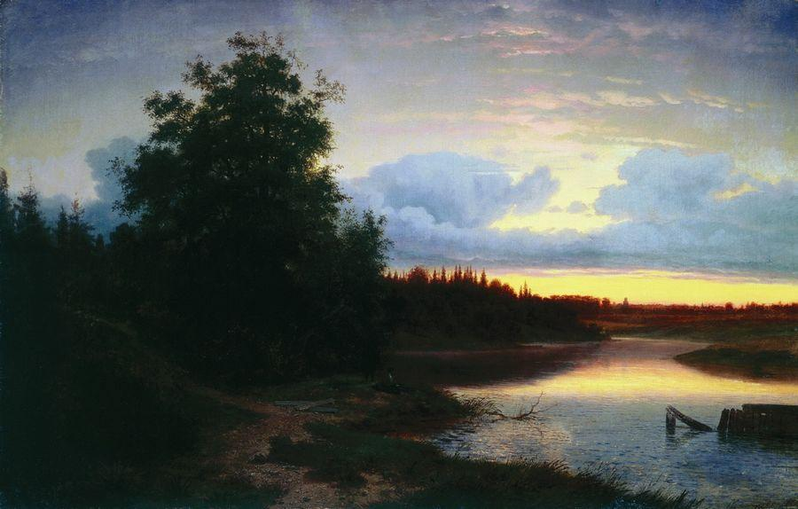 Ночь на реке Мологе. 1861