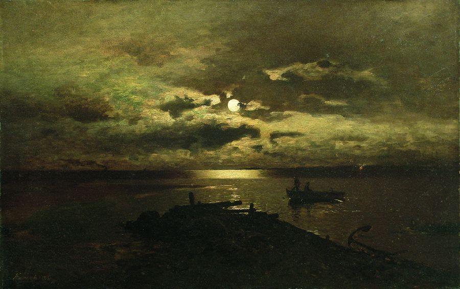 Ночь над морем. 1863