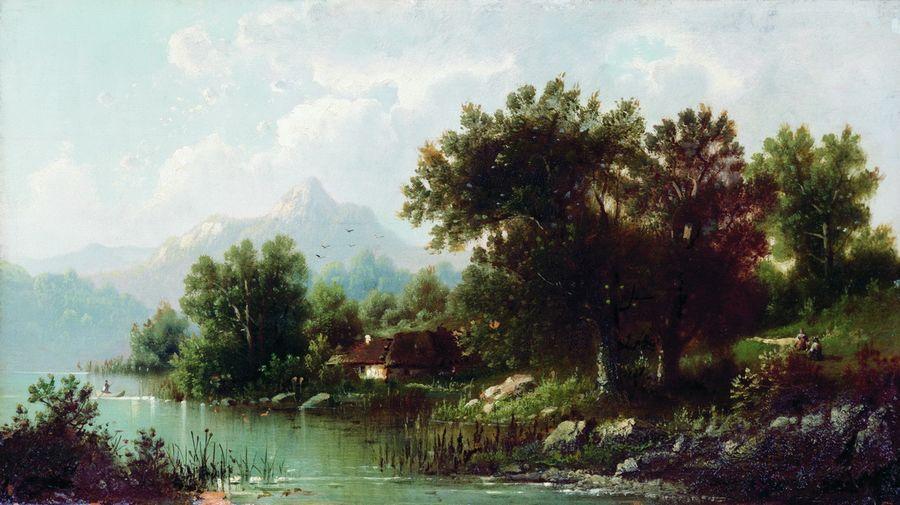 Пейзаж с рекой. 1860