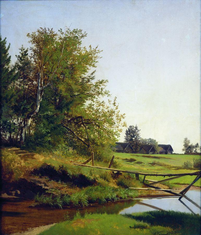 Пейзаж с рекой. 1872