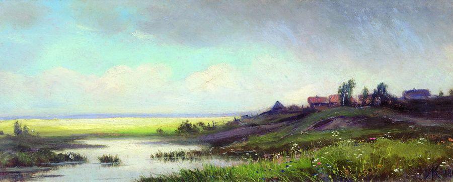 Саввина слобода близ Звенигорода. Дождь. 1867