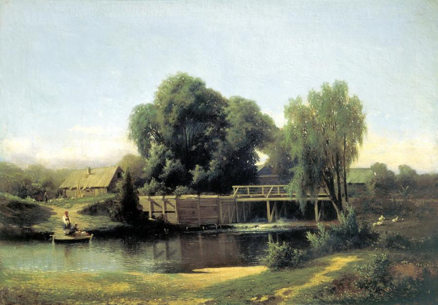У плотины. 1864
