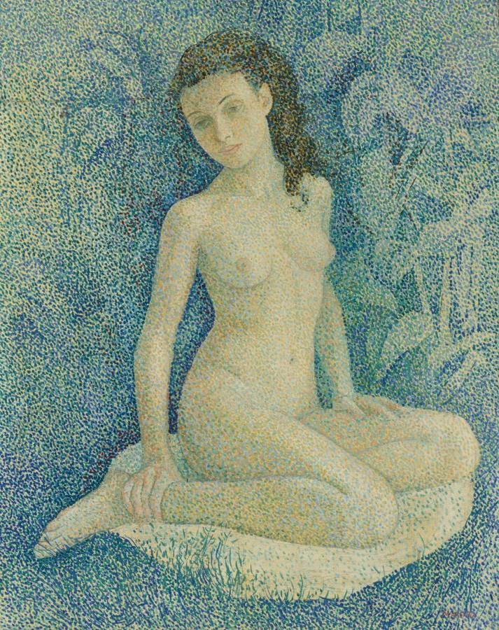 Воробьёва-Стебельская Мария Брониславовна (Marevna), 1892-1984. Обнаженная. 92.1 х 73 см. Частная коллекция