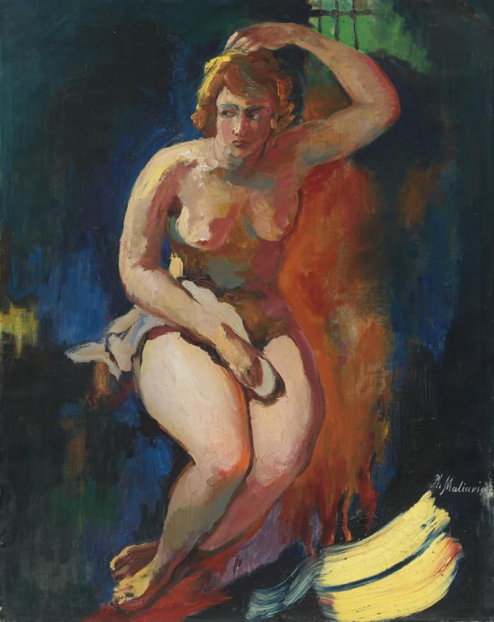 Малявин Филипп Андреевич, 1869-1940. Девушка из Казани. 81 х 64 см. масло, холст. Частная коллекция