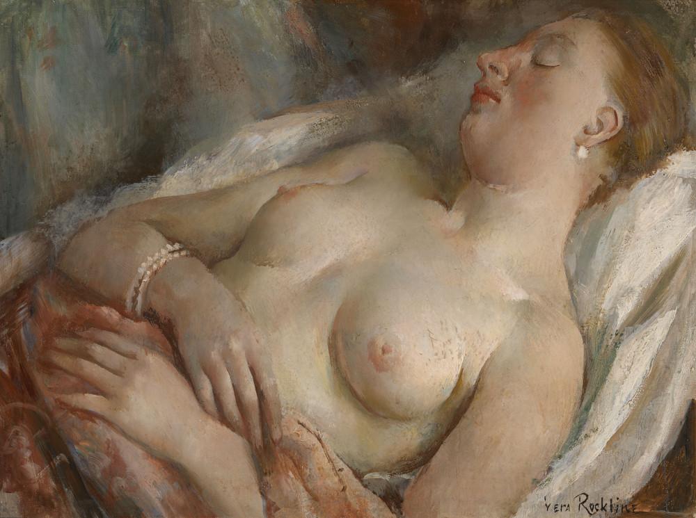 Рохлина Вера Николаевна, 1896-1934. Обнаженная. 54.5 х 73 см. Частная коллекция