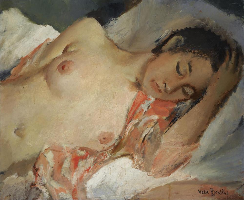 Рохлина Вера Николаевна, 1896-1934. Спящая обнаженная. 60.5 х 73 см. Частная коллекция