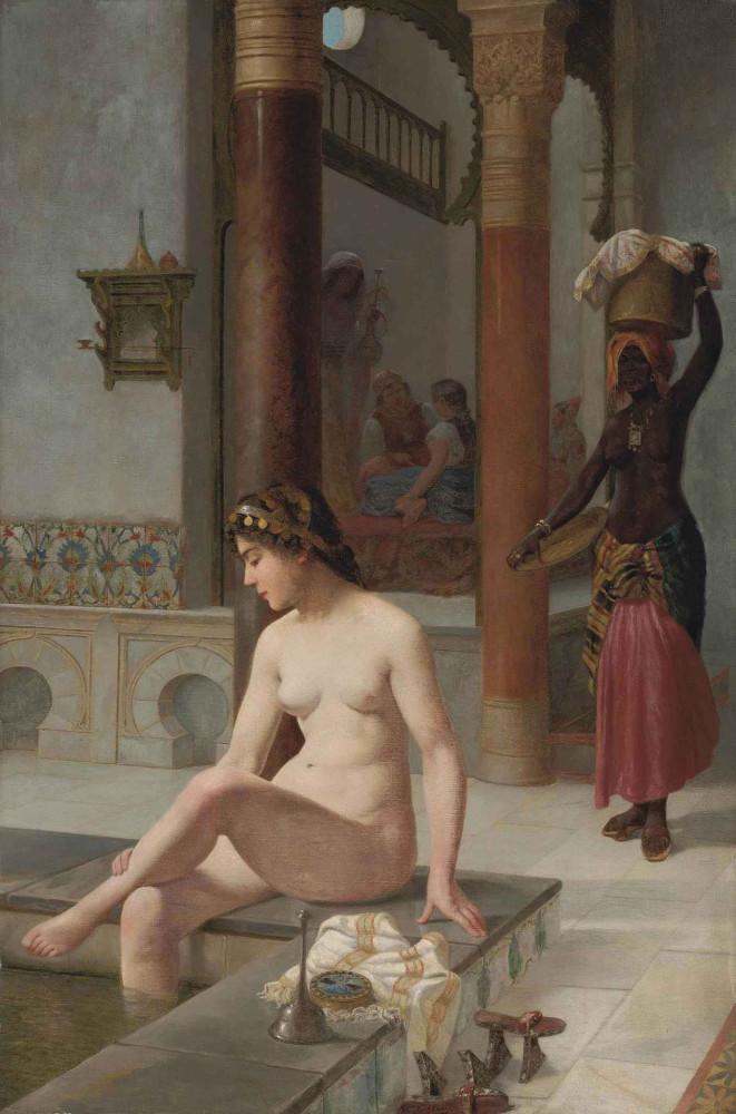Степевич Винсент, 1841-1910_Турецкая баня. 77 х 31 см. масло, холст. Частная коллекция