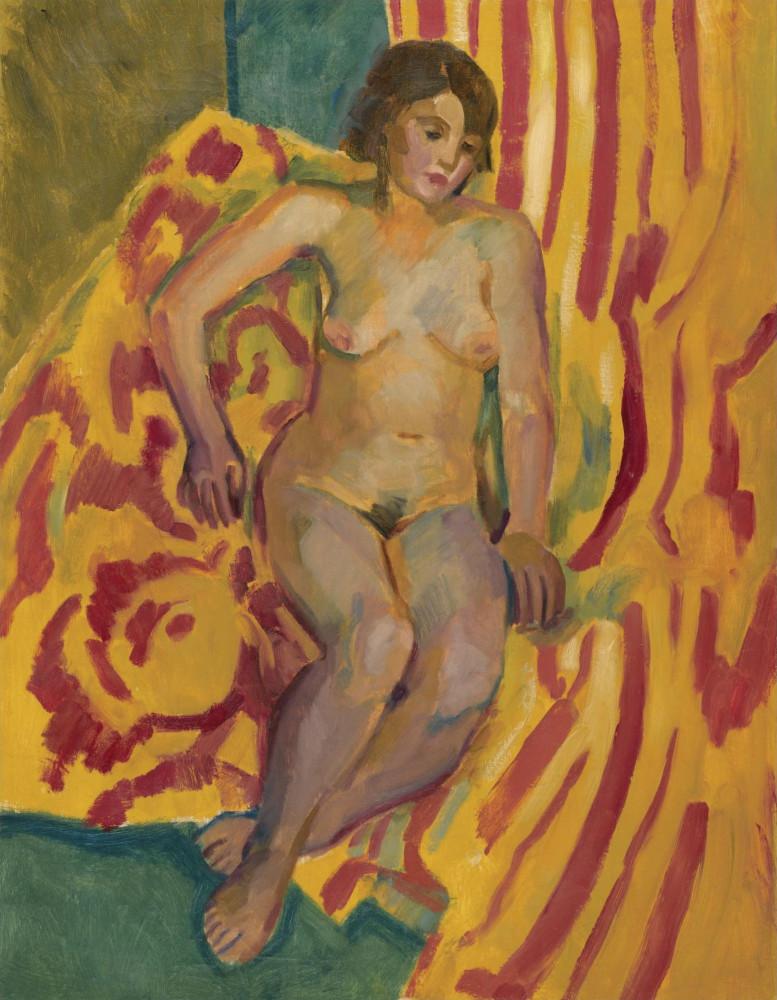 Тырса Николай Андреевич, 1887-1942. Сидящая обнаженная. 1935. 76 х 59 см. Частная коллекция