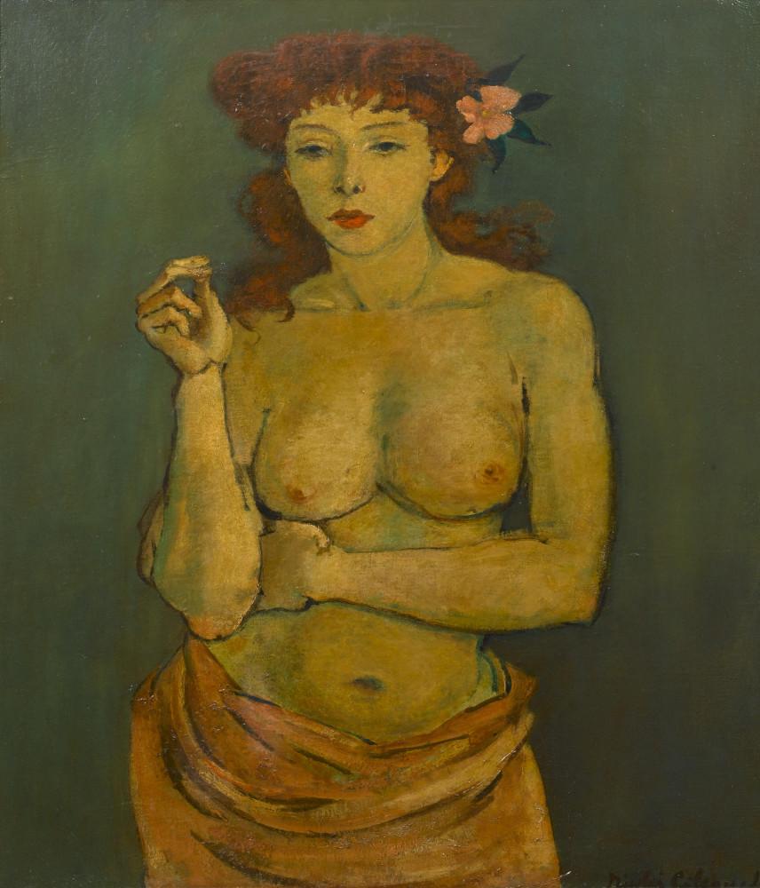 Циковский, Николай, 1894-1987_Рыжеволосая красавица_76.5 x 61_х.,м._Частная коллекция