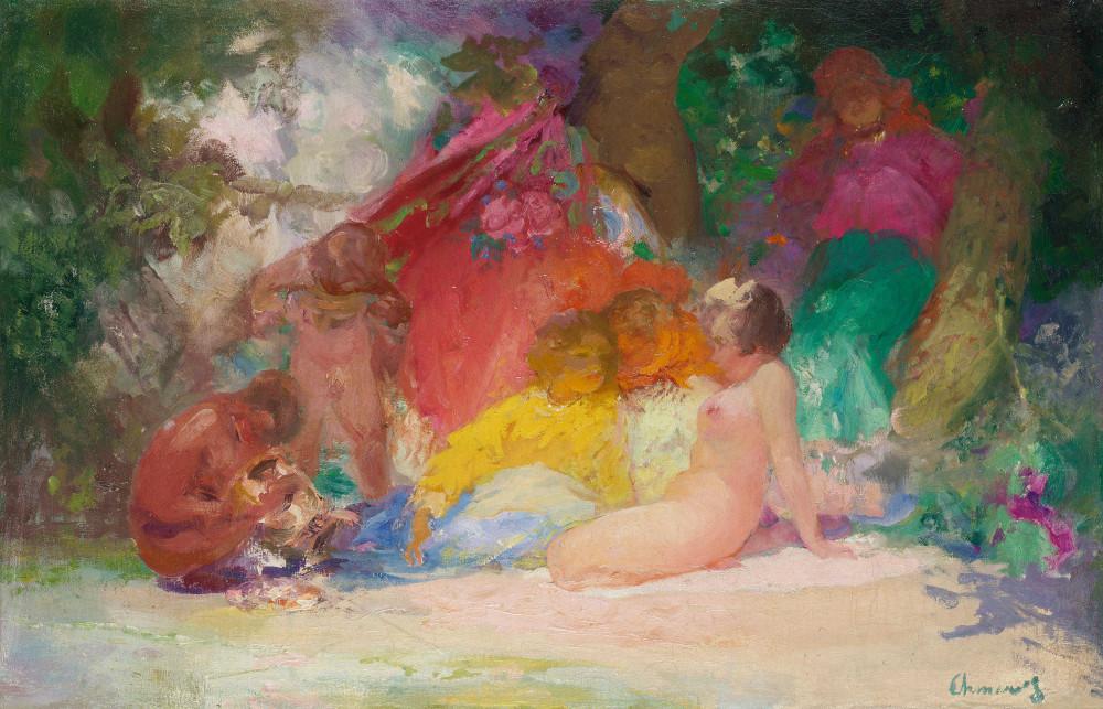 Шмаров, Павел Дмитриевич, 1874-1955_Woodland reverie_59.5 х 91_х.,м._Частная коллекция