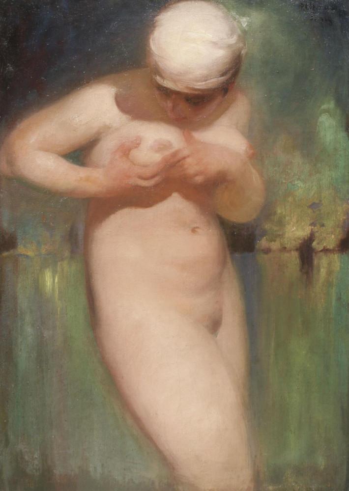 Шмаров, Павел Дмитриевич, 1874-1955_Купальщица_1928_92 х 63_х.,м._Частная коллекция