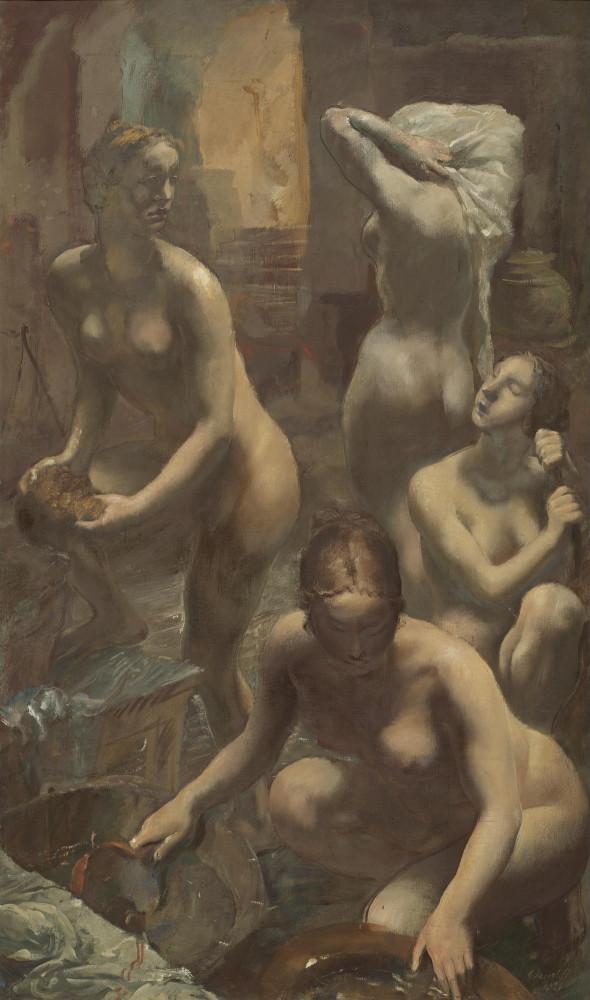 Яковлев Александр Евгеньевич, 1887-1938. Купальицы. 155.5 х 92 см. Частная коллекция