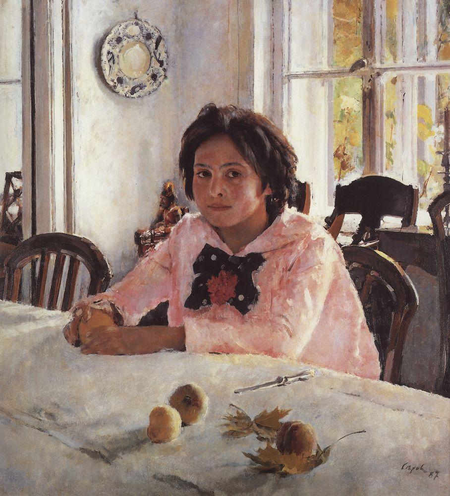 2 Девочка с персиками (Портрет В.С.Мамонтовой). 1887