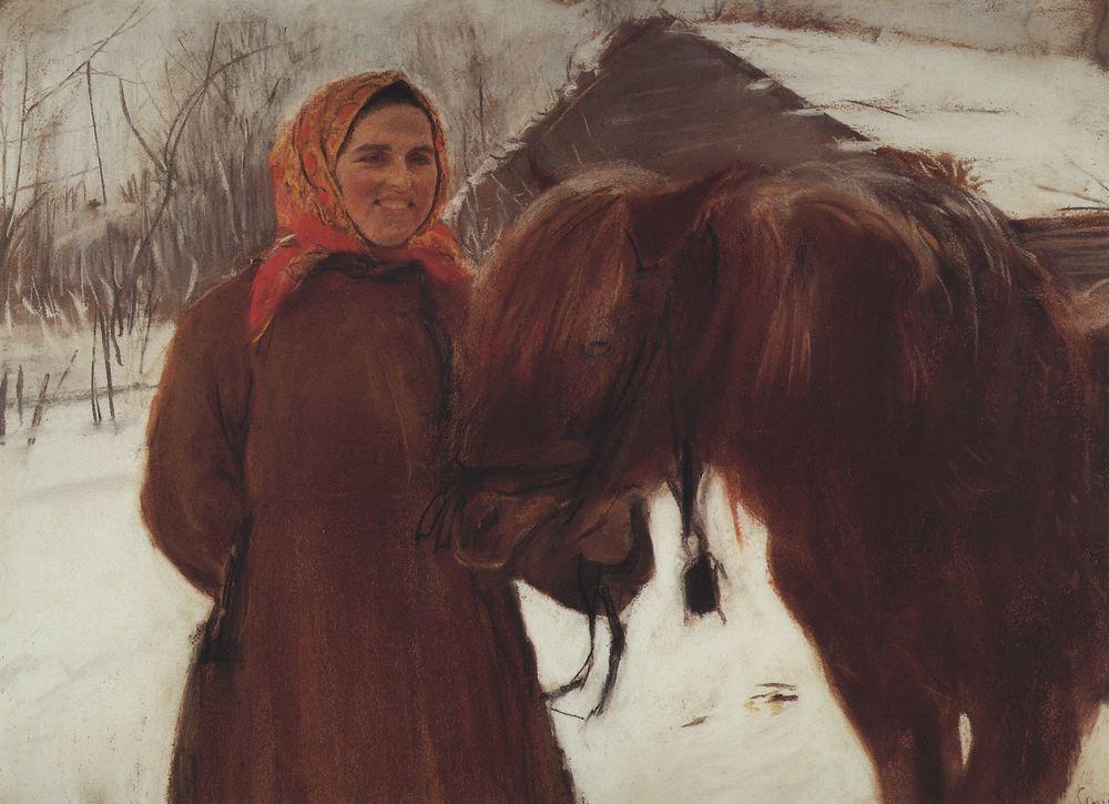 3 Баба с лошадью. 1898