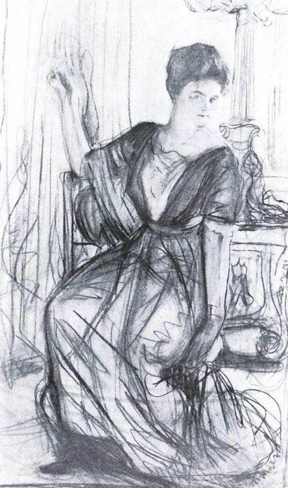 Набросок к портрету П.И.Щербатовой2. 1911
