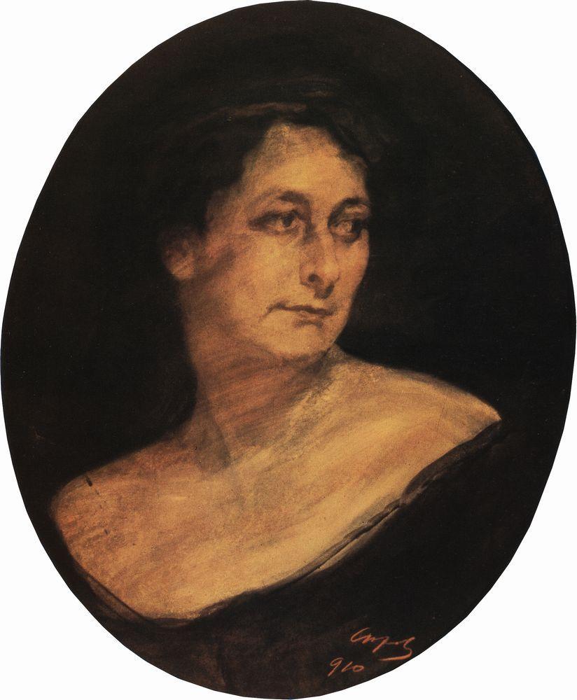 Портрет А.М.Стааль. 1910