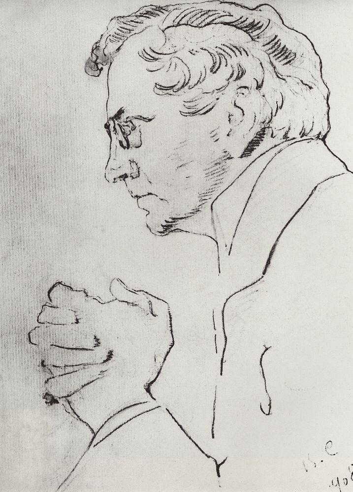 Портрет артиста В.И.Качалова. 1908