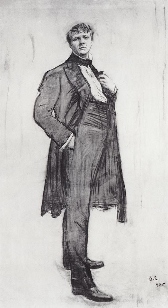 Портрет артиста Ф.И.Шаляпина. 1905