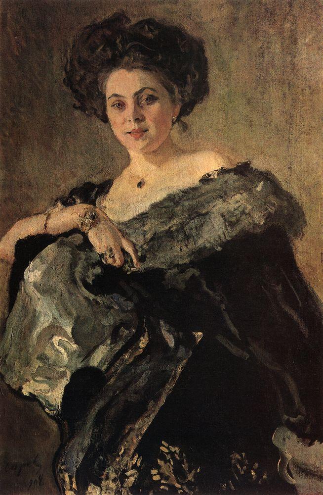 Портрет Е.С.Морозовой. 1908