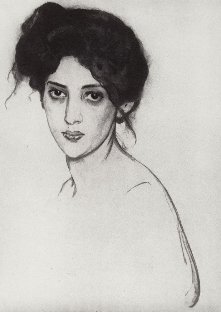 Портрет И.Ю.Грюнберг. 1910