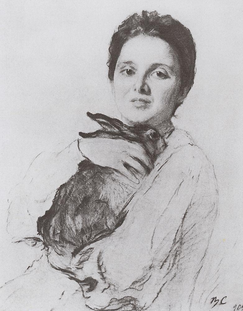 Портрет К.А.Обнинской с зайчиком. 1904