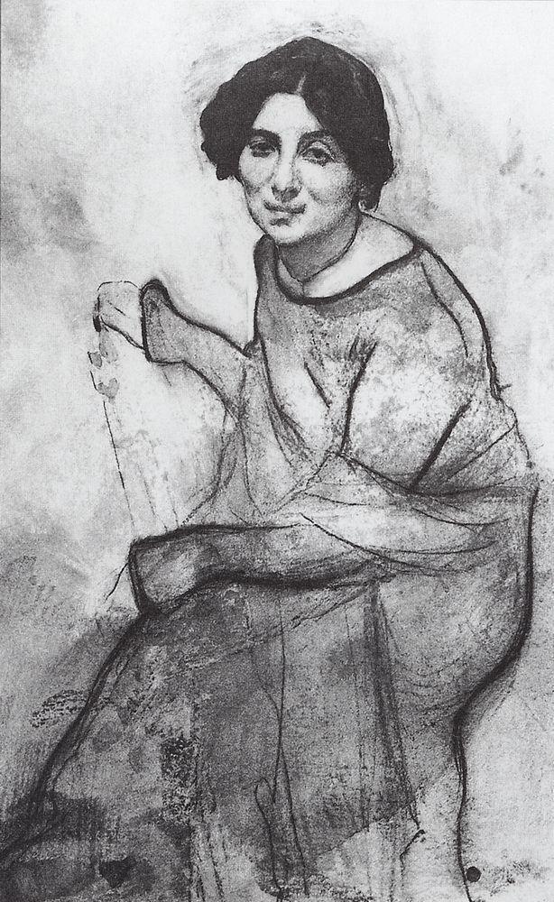 Портрет пианистки Ванды Ландовской. 1907