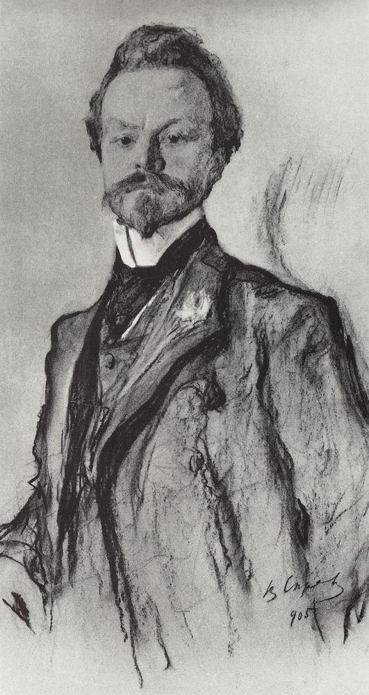 Портрет поэта К.Д.Бальмонта. 1905