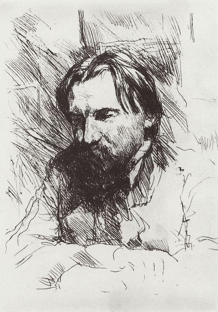Портрет художника-гравера В.В.Матэ. 1898-1899