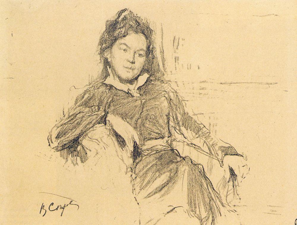Портрет художницы А.П.Остроумовой-Лебедевой. 1899