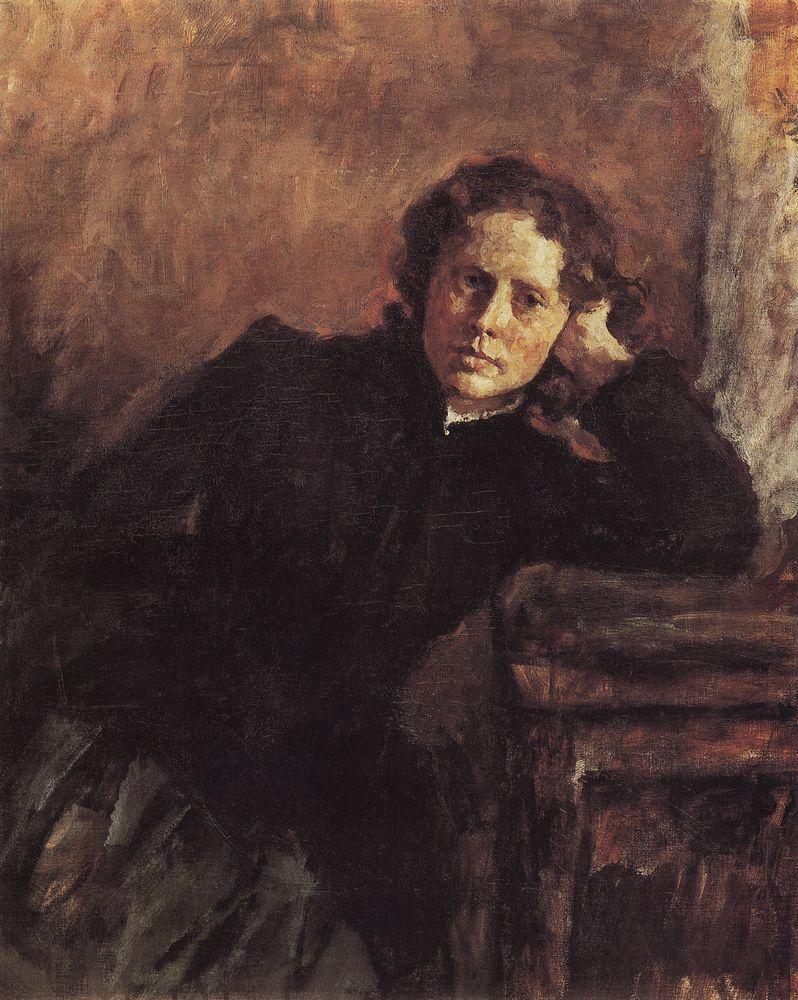 У окна. Портрет О.Ф.Трубниковой. 1885