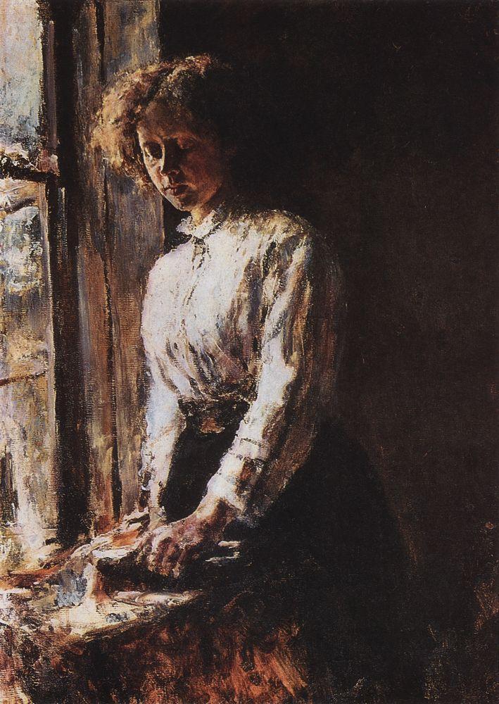 У окна. Портрет О.Ф.Трубниковой. 1886