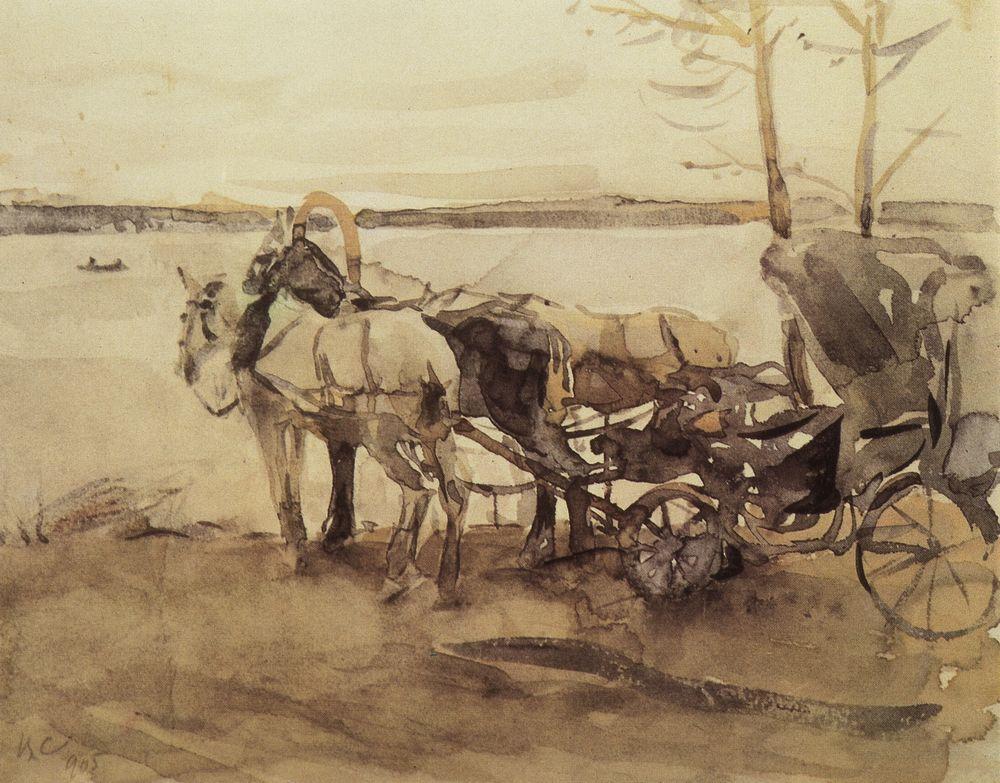 У перевоза. 1905