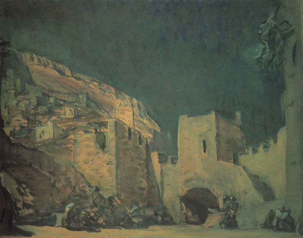 Эскиз декорации к опере А.Н.Серова Юдифь. 1907