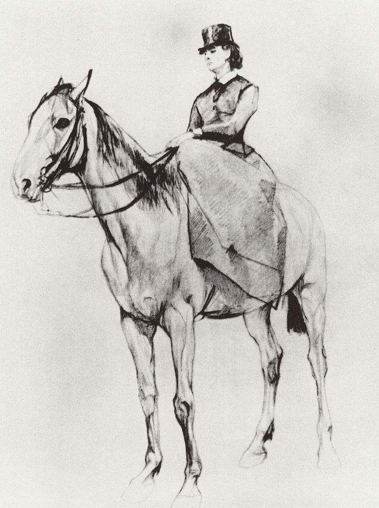 Амазонка. М.Ф.Мамонтова. 1884