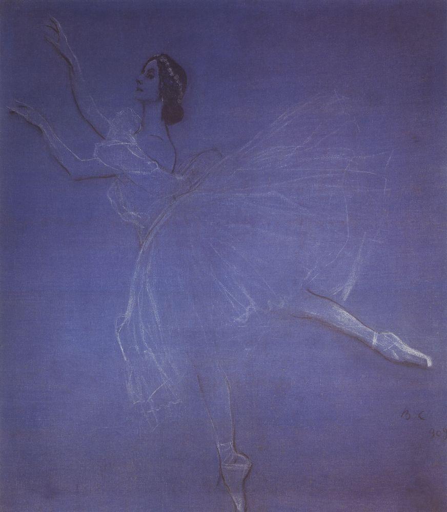 Анна Павлова в балете Сильфиды. 1909