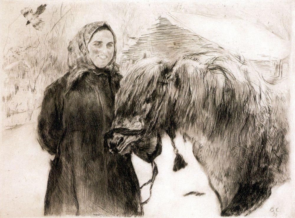 Баба с лошадью. 1899
