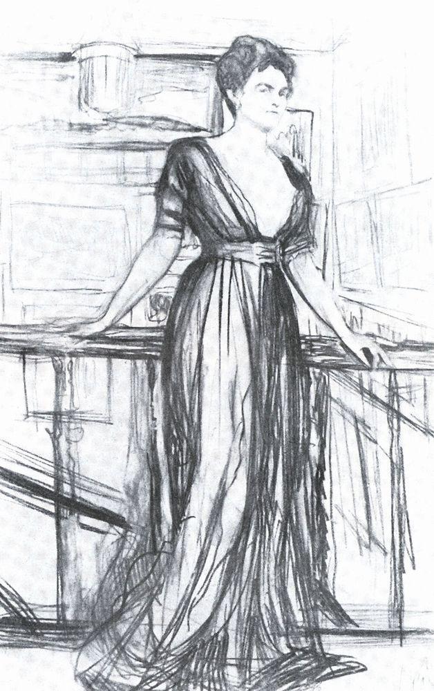 Набросок к портрету П.И.Щербатовой1. 1911