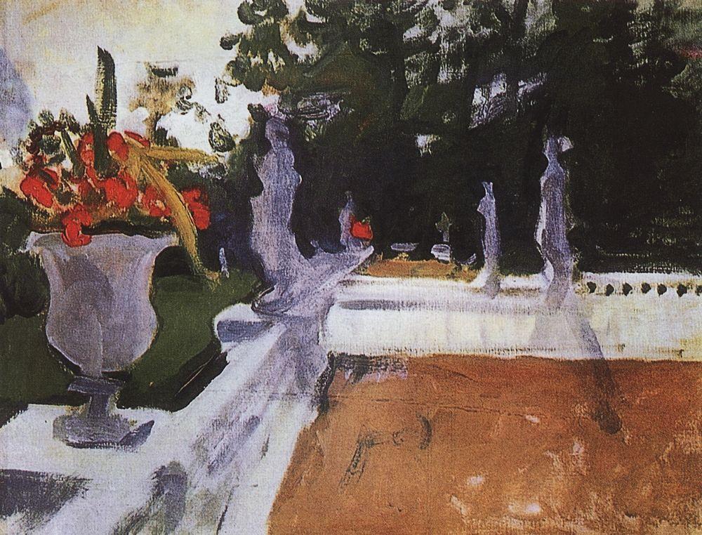 Портик с балюстрадой. Архангельское. 1903