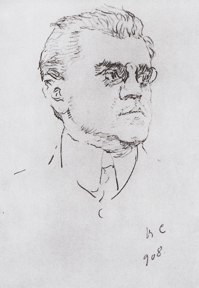 Портрет артиста И.М.Москвитина. 1908