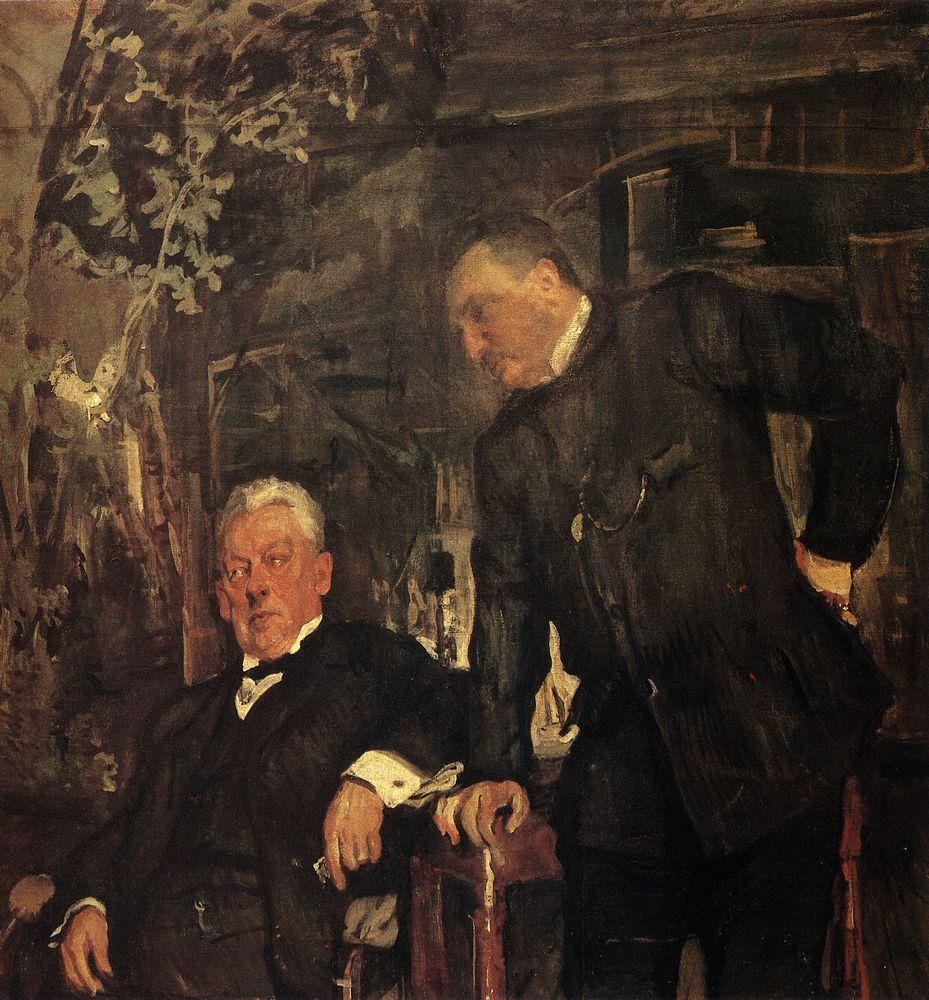 Портрет артистов А.П.Ленского и А.И.Южина. 1908