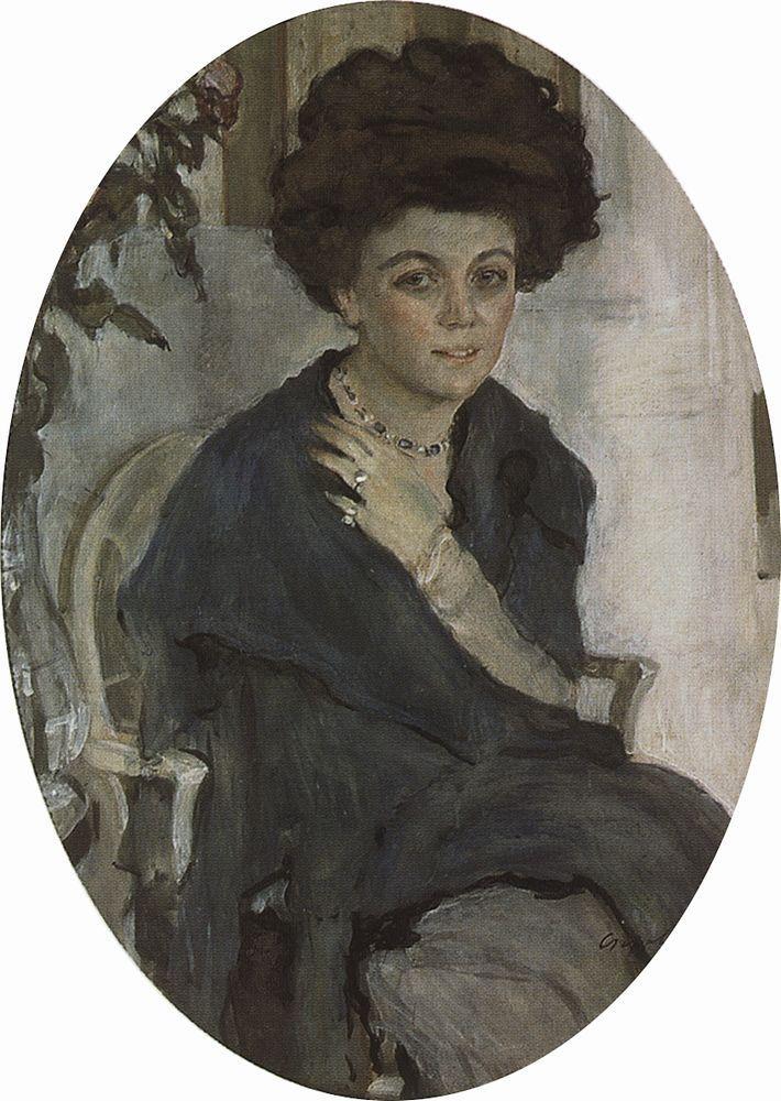 Портрет Е.П.Олив. 1909