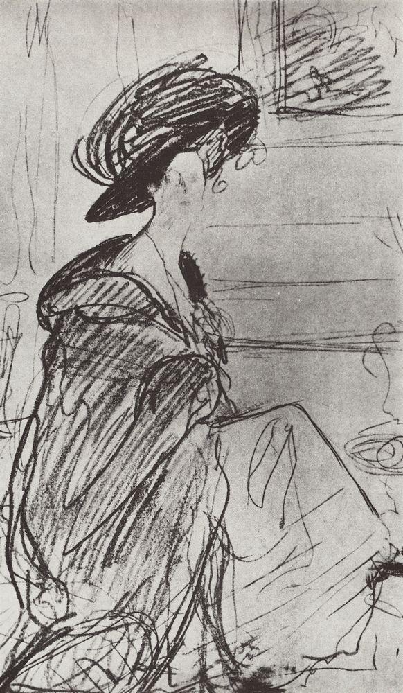 Портрет кн. О.К.Орловой. 1910